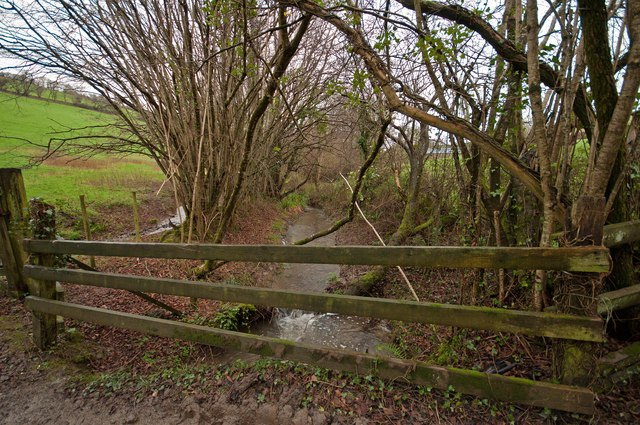 A bridge on Coney Gut downstream from Coombe Farm