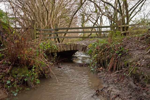 A bridge on Coney Gut, near Coombe Farm, as seen from downstream