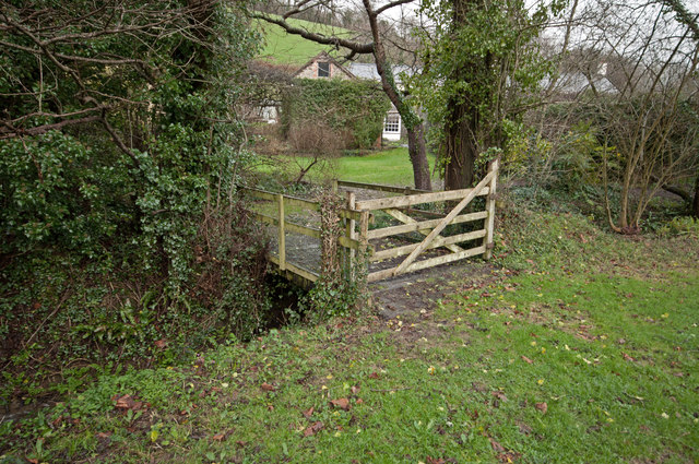 One of a few footbridges on Coney Gut at Coombe Farm