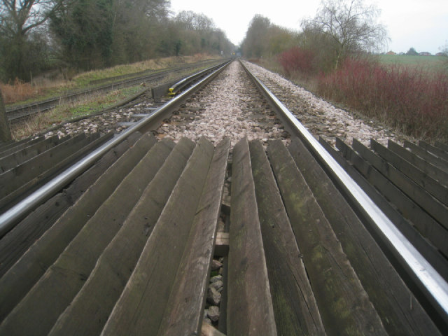 Low view of the main line
