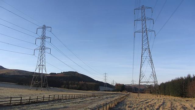 Power lines, Dreghorn