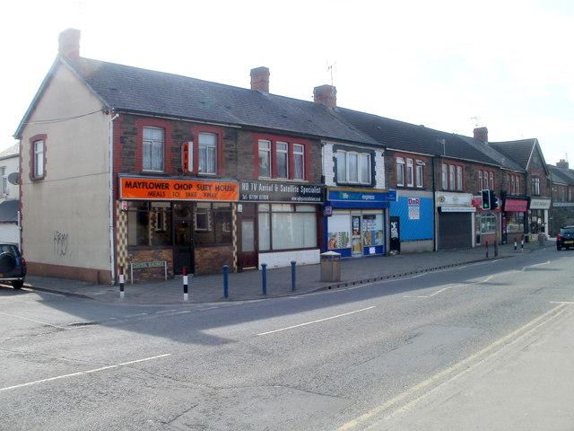 Central Buildings shops, Trethomas