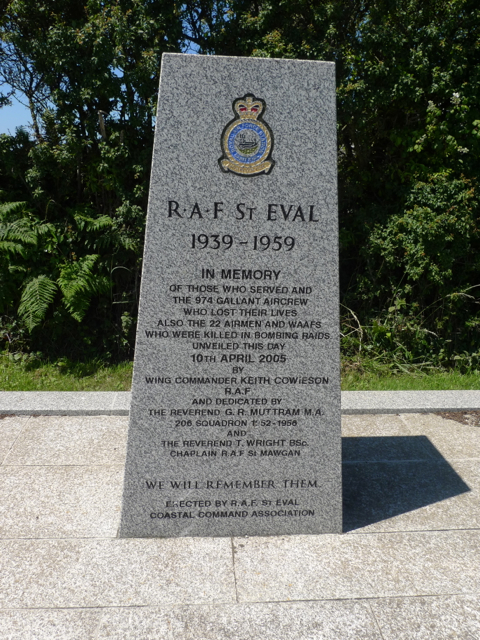 RAF Coastal Command Memorial at St Eval