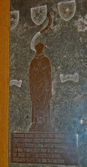 Brass of Robert Clere, St Mary's church, Battle