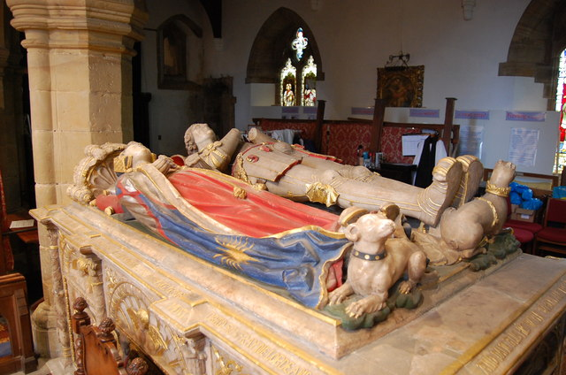 Tomb of Sir Anthony Browne and wife, St Mary's church, Battle