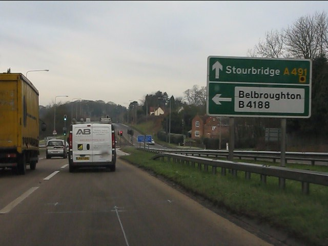 A491 approaching Hartle Lane traffic lights