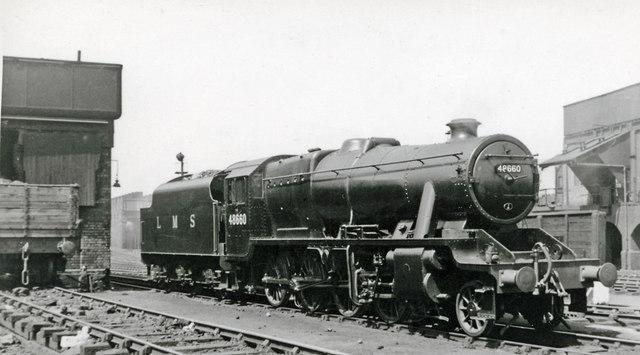 Stanier 8F 2-8-0 at Birkenhead Locomotive Depot