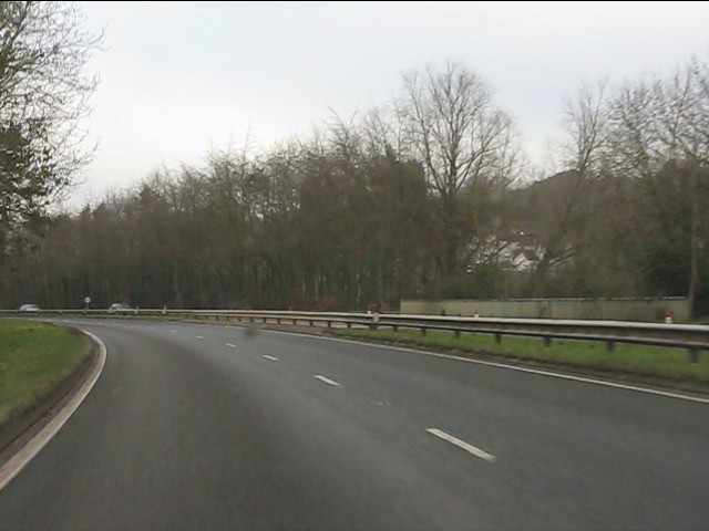 A491 bridges the lane from Holy Cross to Clent