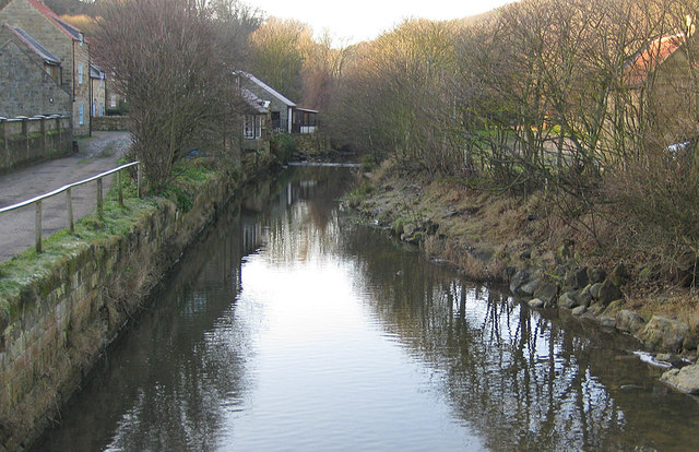 Upstream view of East Row Beck
