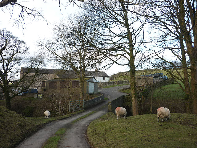 Bridge and farm access track over Chapel Beck, Howgill