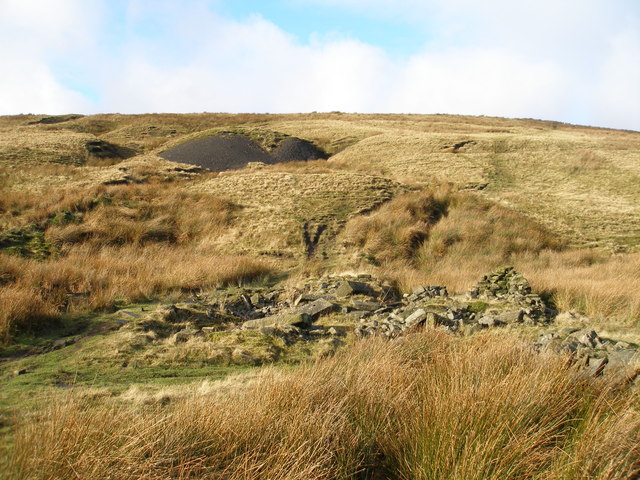 Remains of the mine below Freeholds Top
