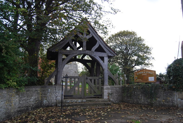 Lych gate, Church of St Peter and St Paul, Stoke