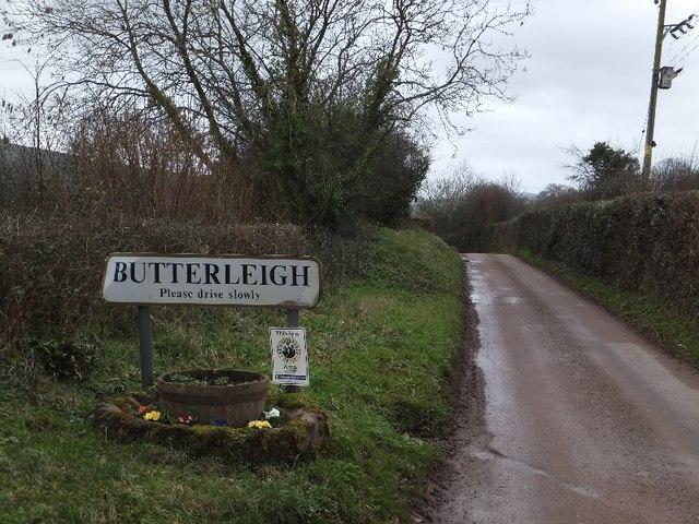 Entrance to Butterleigh