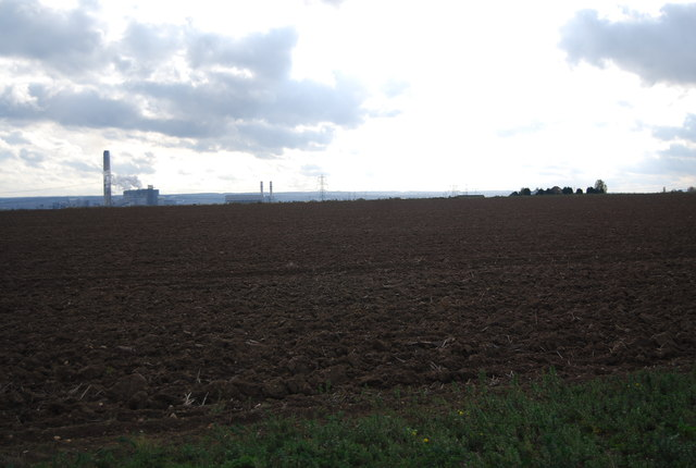 Ploughed land near Stoke