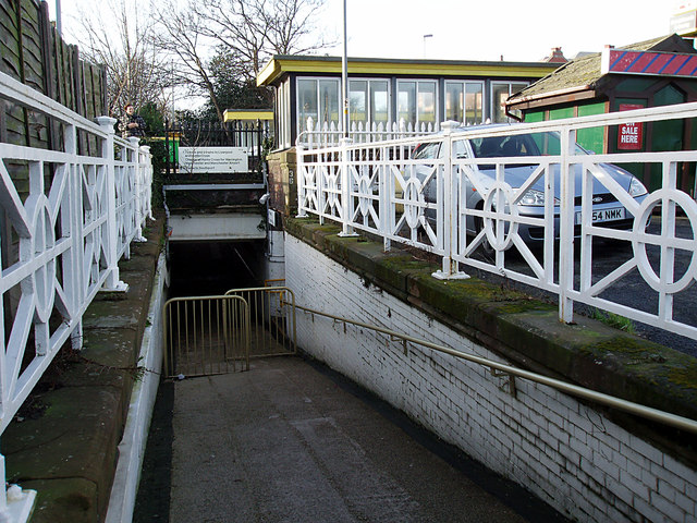 Subway under Blundellsands and Crosby  Railway Station