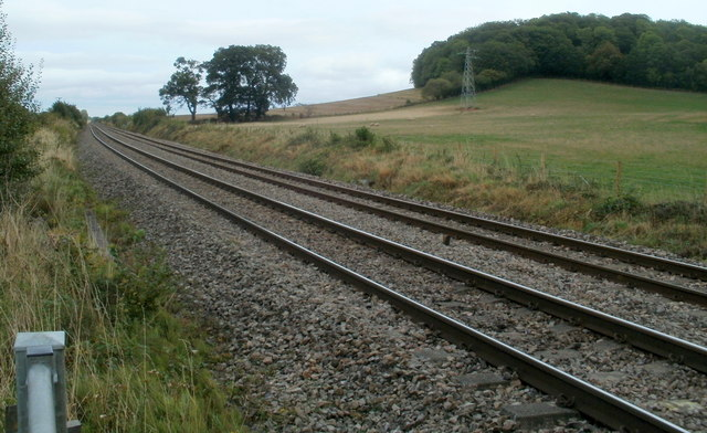 Welsh Marches railway lines near Pontrilas, Herefordshire