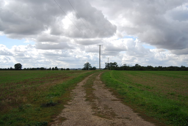 Track west from Claydon Hall