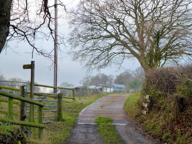 Entrance to Mynydd-ferddin Farm 2012