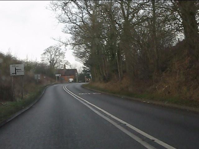 A458 approaching Gilbert's Cross