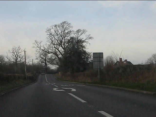 A458 north of Gilbert's Cross