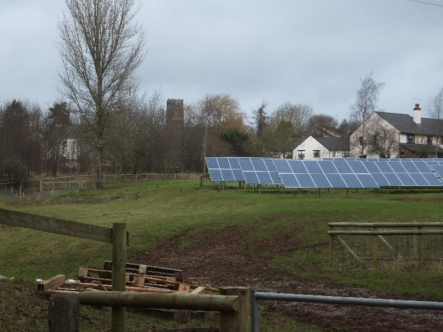 PV array on the south of Butterleigh