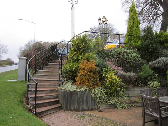 The steps up to the Ivy House car park