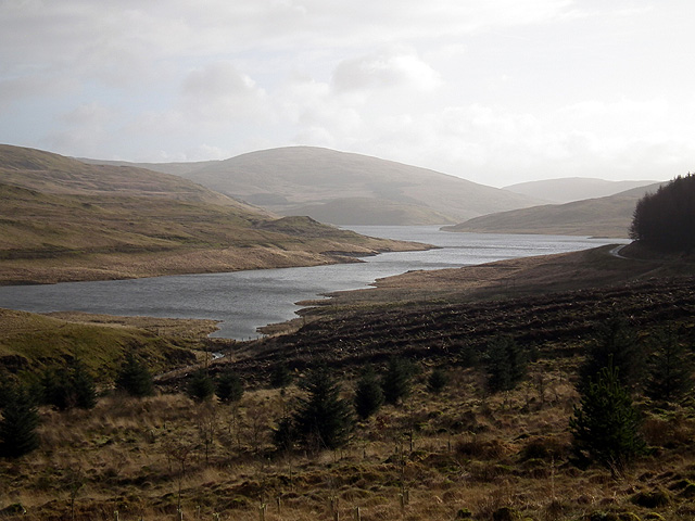 The north-west arm of Nant-y-moch Reservoir