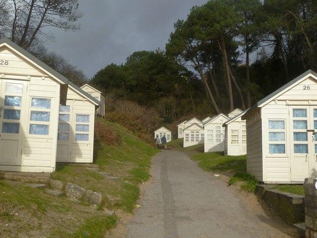 Canford Cliffs, beach huts