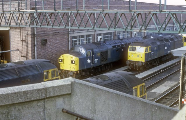Locos at Longsight depot a view from the footbridge