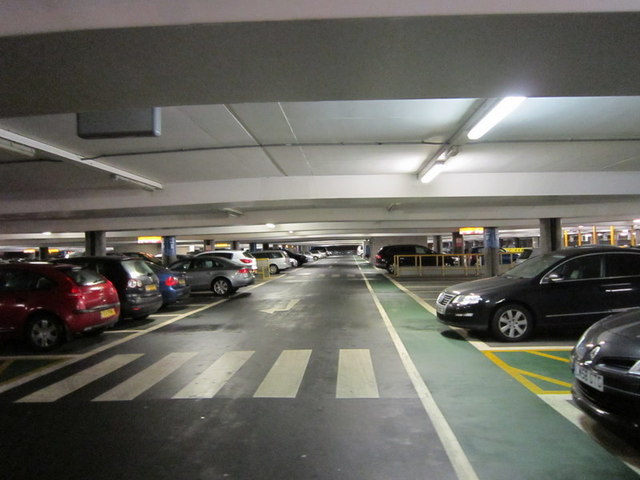 Level 2 of the short stay car park T3 at Heathrow