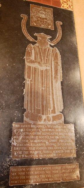 John Wythines Brass, St Mary's church, Battle
