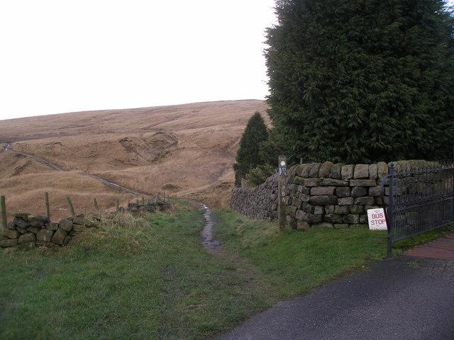 The Pennine Bridleway leaves North Hollingworth Farm