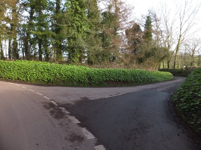Junction near Knowle