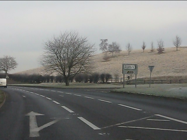 A454 at the junction for Roughton and Barnsley