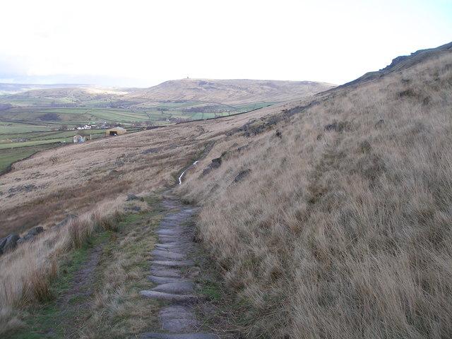 The Pennine Bridleway descending towards Blarney Castle