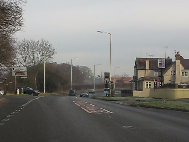 Pub at the crossroads, Wyken