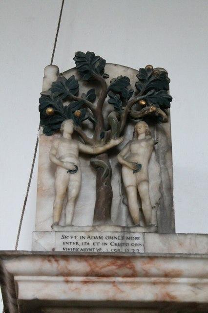 Adam and Eve on William Heneage Memorial