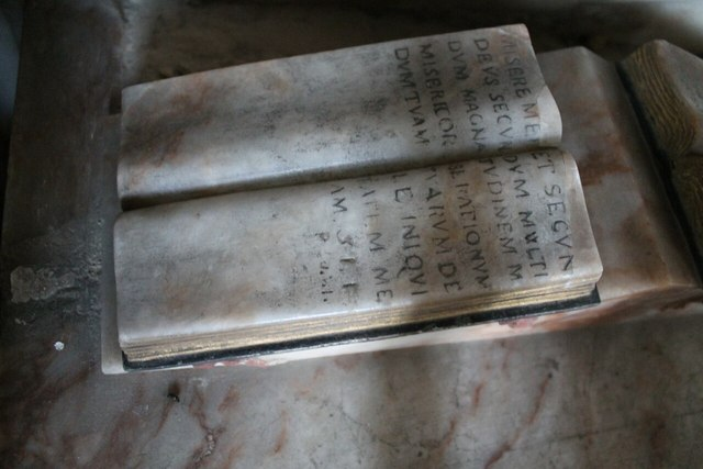 Detail of Prayer book, William Heneage Memorial