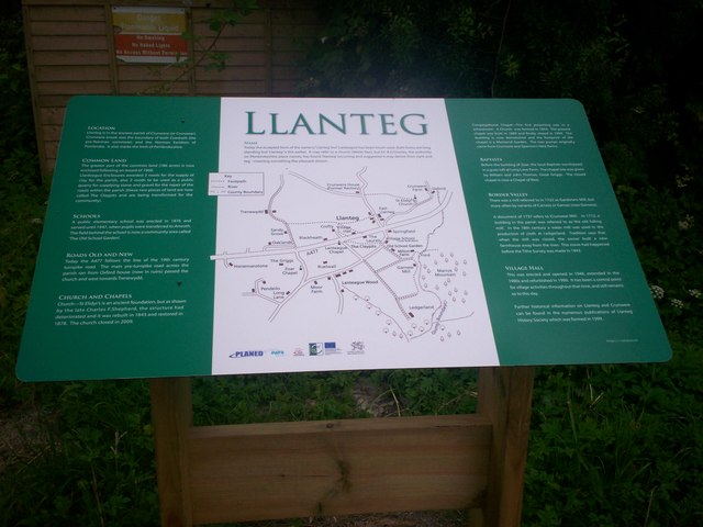 Information Board, Llanteg Hall.