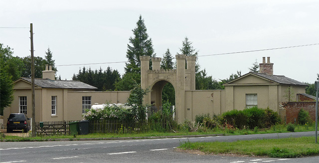 Former lodges near Woodmancott