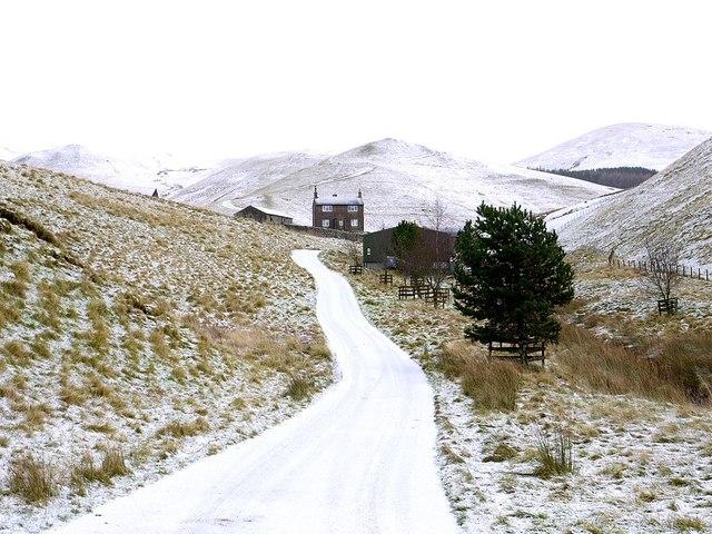 Road south of Trows Farm