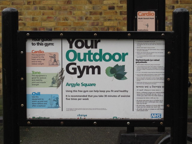Sign for Your Outdoor Gym, Argyle Square, WC1