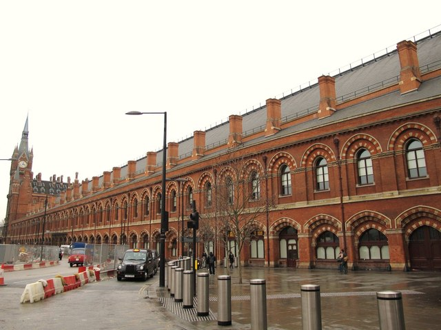 The east side of (the old part of) St. Pancras Station