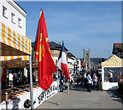 SU7682 : French Market, Falaise Square, Henley by Des Blenkinsopp