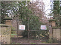 NZ2910 : Eastern entrance to Croft House at Hurworth Place by peter robinson