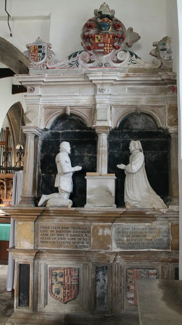 Tomb of John Heneage and wife, St Mary's Hainton