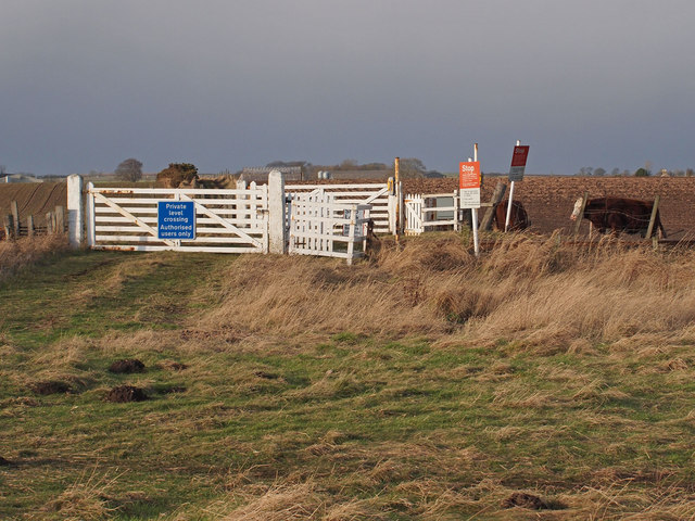 Private level crossing at East Haven