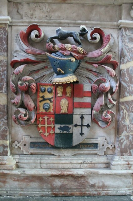 Heneage Coat of Arms on George Heneage Tomb