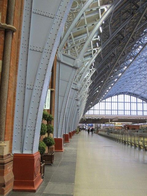 St. Pancras Station - interior, west side