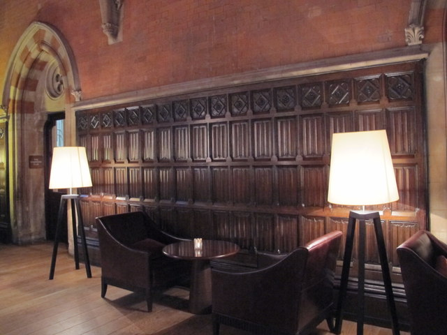 St. Pancras Renaissance London Hotel, Euston Road, NW1 - a comfy corner in the Booking Office Bar